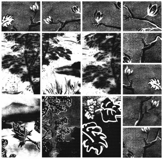 Eden DETAIL, archival toner on archival paper, 8 feet x 24 feet (158 individual prints), 2012-13