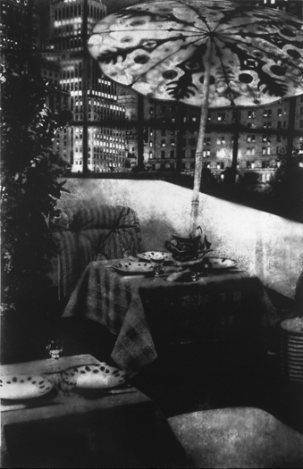 Patio/Umbrella, Gelatin Silver Print, 75in x 49in, 1997