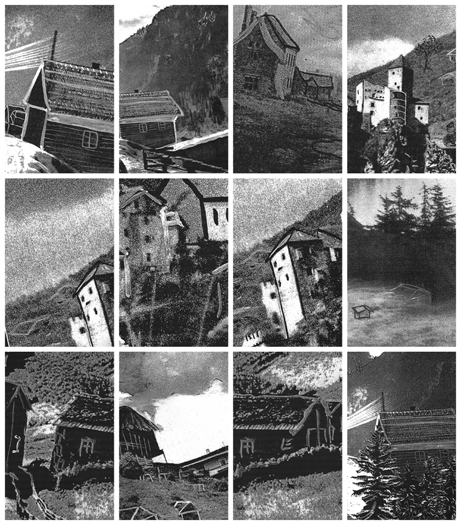 Houses DETAIL, Gelatin Silver Prints, 9 feet x 15 feet, (96 individual 17in x 11in prints), 2006-7