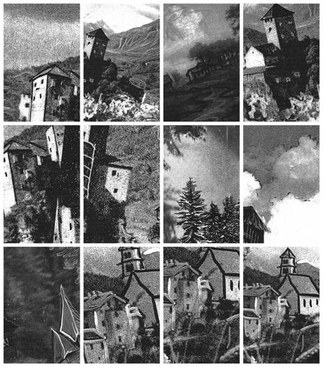 Houses DETAIL, Gelatin Silver Prints, 9 feet x 15 feet, (96 individual 17in x 11in prints), 2006-7