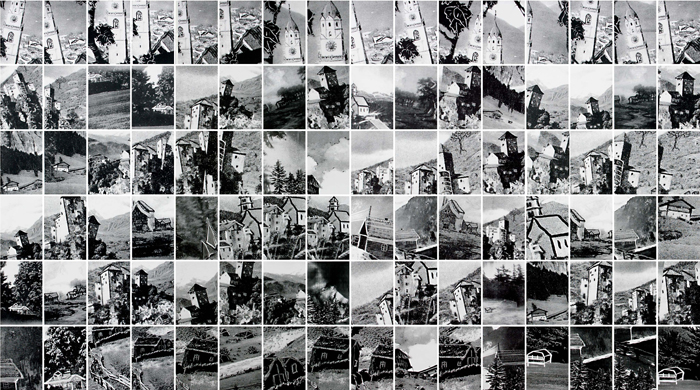 Houses, Gelatin Silver Prints, 9 feet x 15 feet, (96 individual 17in x 11in prints), 2006-7